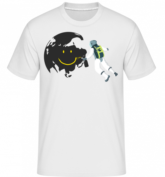 Smiling Moon - Shirtinator Men's T-Shirt - White - Vorn