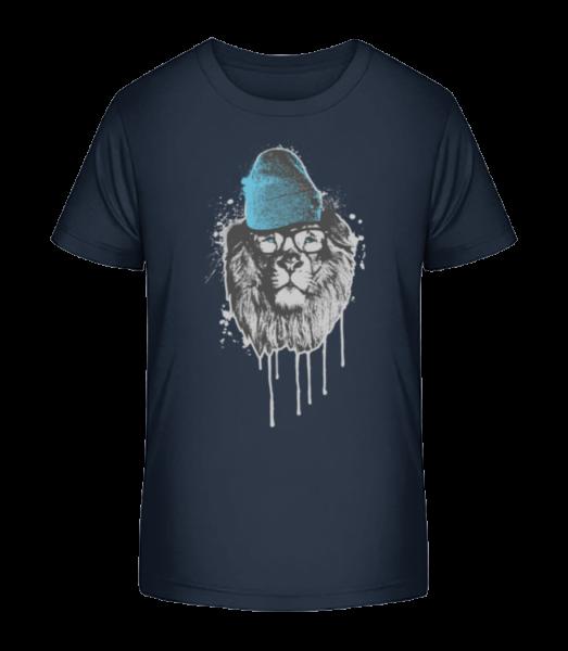 Lion with Head - Kid's Premium Bio T-Shirt - Navy - Vorn