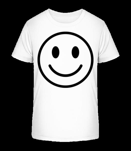 Happy Emoticon - Kid's Premium Bio T-Shirt - White - Vorn