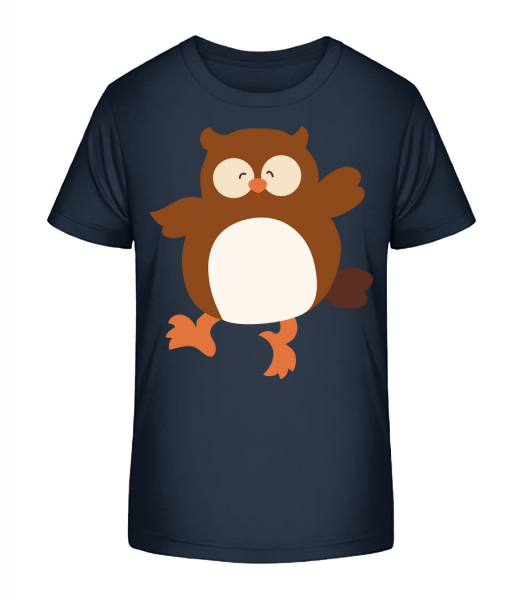 Kids Comic - Owl - Kid's Premium Bio T-Shirt - Navy - Vorn