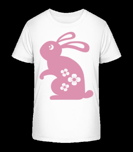 Easter Bunny Icon - Kid's Premium Bio T-Shirt - White - Vorn