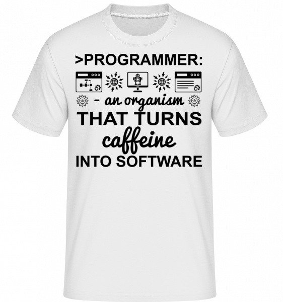 Caffeine Into Software - Shirtinator Men's T-Shirt - White - Vorn