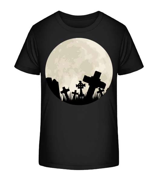 Gothic Scenery Circle - Kid's Premium Bio T-Shirt - Black - Vorn