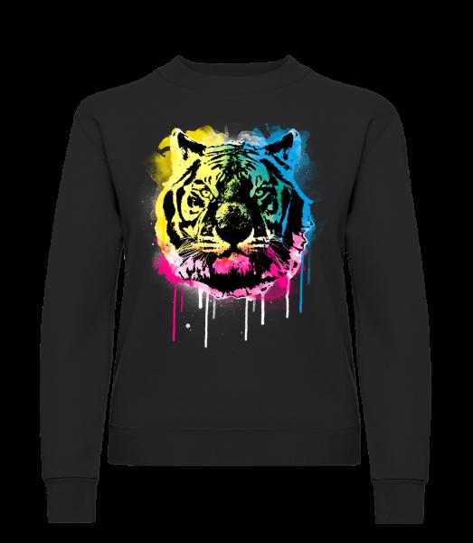 Multicolor Tiger - Classic Ladies' Set-In Sweatshirt - Black - Vorn