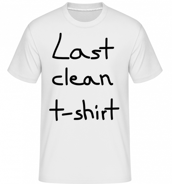 Last Clean T-Shirt -  Shirtinator Men's T-Shirt - White - Vorn