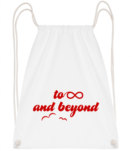To Infinity And Beyond - Drawstring Backpack - White - Vorn