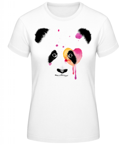 Watercolor Panda - Women's Basic T-Shirt - White - Vorn