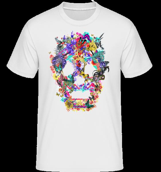 Skull Collage Brazil - Shirtinator Men's T-Shirt - White - Vorn