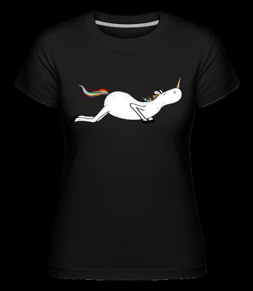 Yoga Unicorn Pushups -  Shirtinator Women's T-Shirt - Black - Vorn