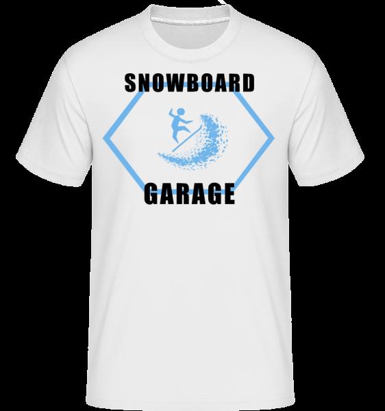 Snowboard Garage Sign -  Shirtinator Men's T-Shirt - White - Vorn