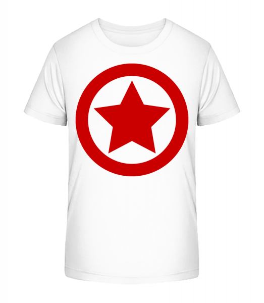 Star Icon Red - Kid's Premium Bio T-Shirt - White - Vorn