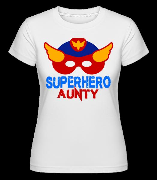 Superhero Aunty -  Shirtinator Women's T-Shirt - White - Vorn