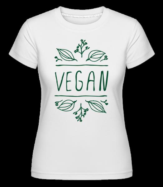 Vegan Sign - Shirtinator Women's T-Shirt - White - Vorn