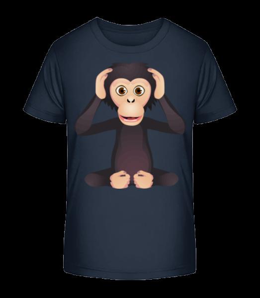 Deaf Monkey - Kid's Premium Bio T-Shirt - Navy - Vorn