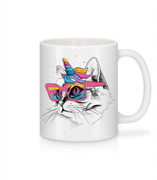 Unicorn Party Cat - Mug - White - Vorn