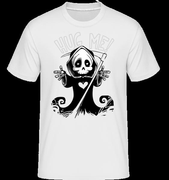 Death Want's A Hug - Shirtinator Men's T-Shirt - White - Vorn