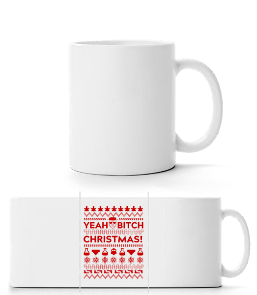 Yeah Bitch Christmas - Panorama Mug - White - Vorn