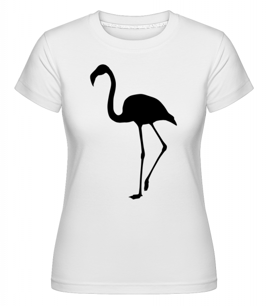 Flamingo Shadow -  Shirtinator Women's T-Shirt - White - Vorn