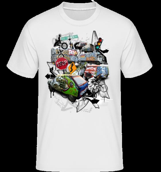 Traffic Chaos -  Shirtinator Men's T-Shirt - White - Vorn