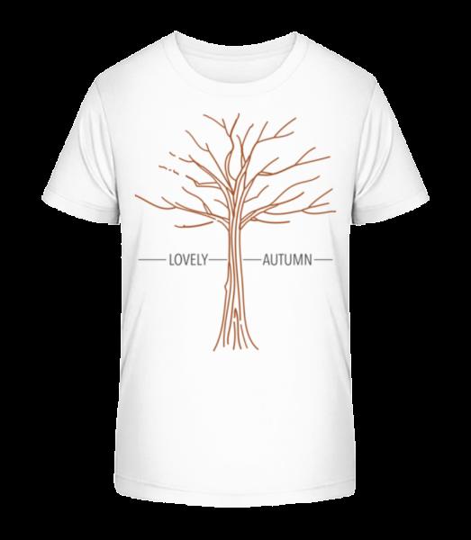 Lovely Autumn - Kid's Premium Bio T-Shirt - White - Vorn
