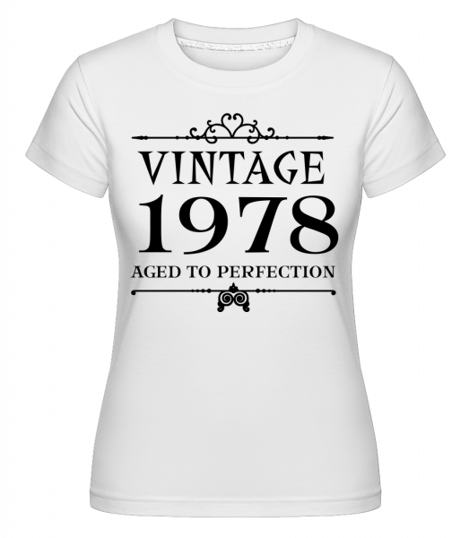 Vintage 1978 Perfection -  Shirtinator Women's T-Shirt - White - Vorn