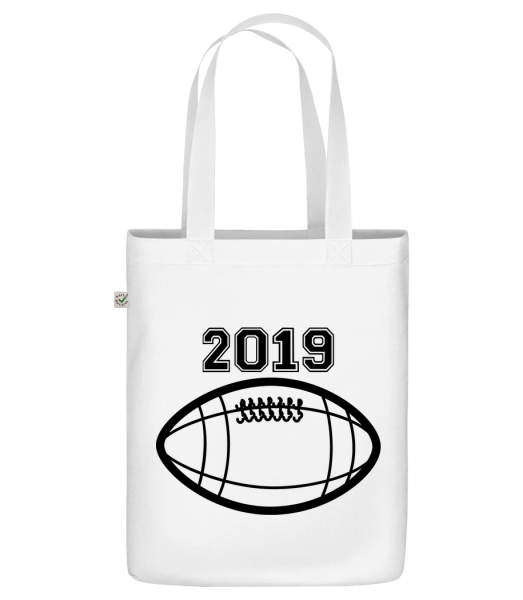 """Football 2019 - Organic """"Earth Positive"""" tote bag - White - Vorn"""