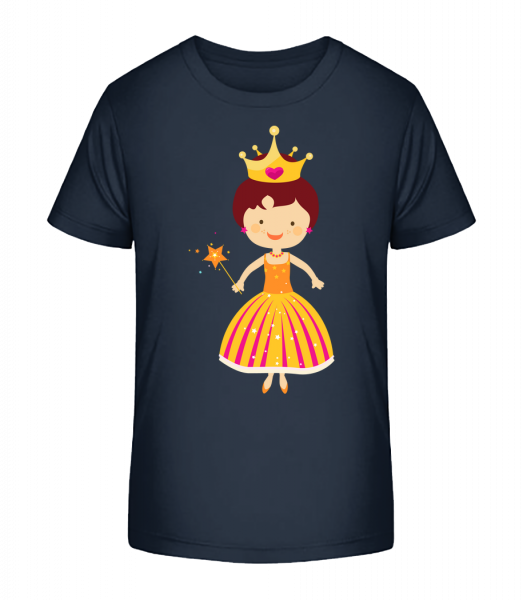 Princess Kids - Kid's Premium Bio T-Shirt - Navy - Vorn