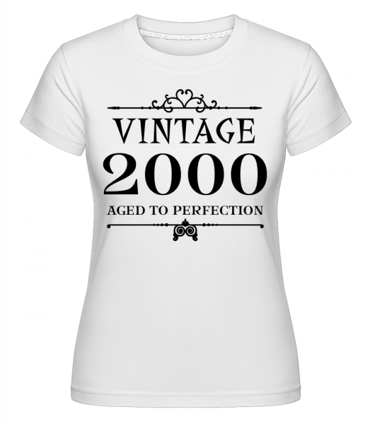 Vintage 2000 Perfection - Shirtinator Women's T-Shirt - White - Vorn