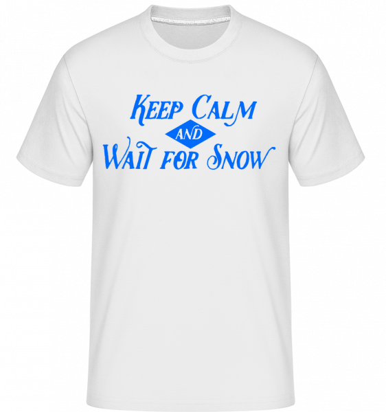 Wait For Snow -  Shirtinator Men's T-Shirt - White - Vorn