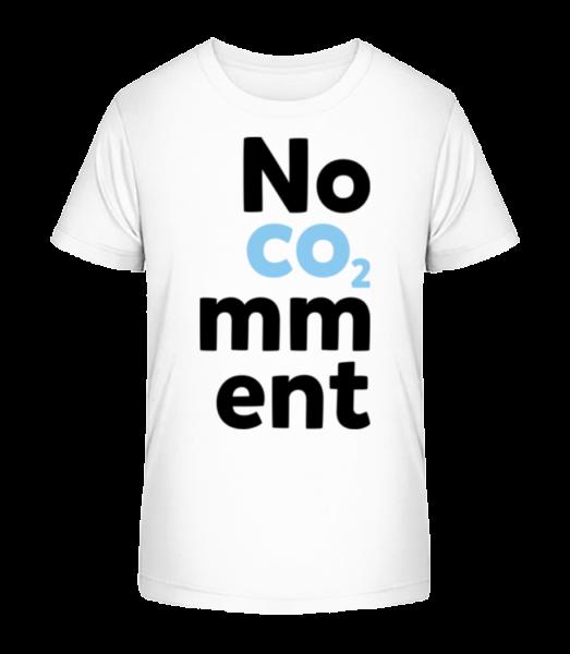 No Comment - Kid's Premium Bio T-Shirt - White - Vorn