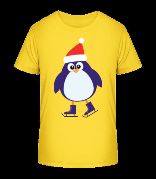 Ice Skate Penguin - Kid's Premium Bio T-Shirt - Yellow - Vorn