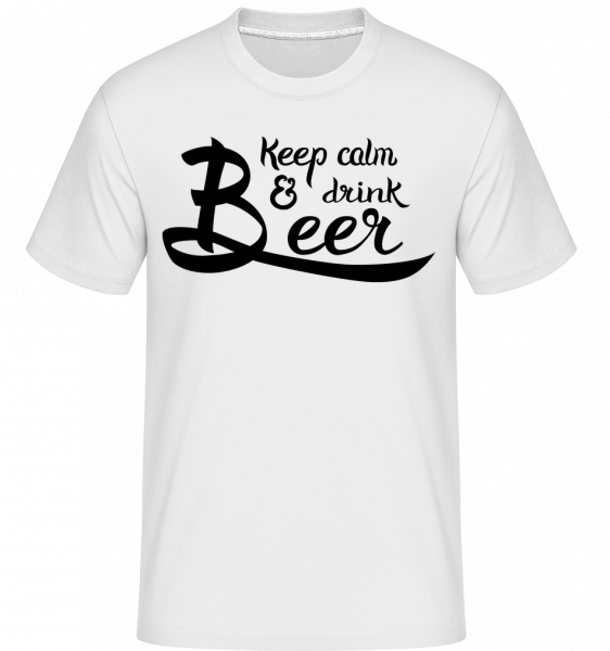 Keep Calm And Drink Beer - Shirtinator Men's T-Shirt - White - Vorn