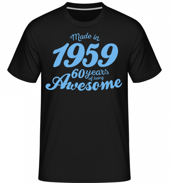 Made In 1959 60 Years - Shirtinator Men's T-Shirt - Black - Vorn