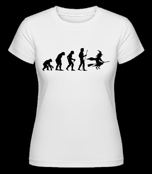 Halloween Evolution -  Shirtinator Women's T-Shirt - White - Vorn