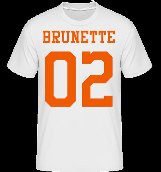 Brunette 02 -  Shirtinator Men's T-Shirt - White - Vorn