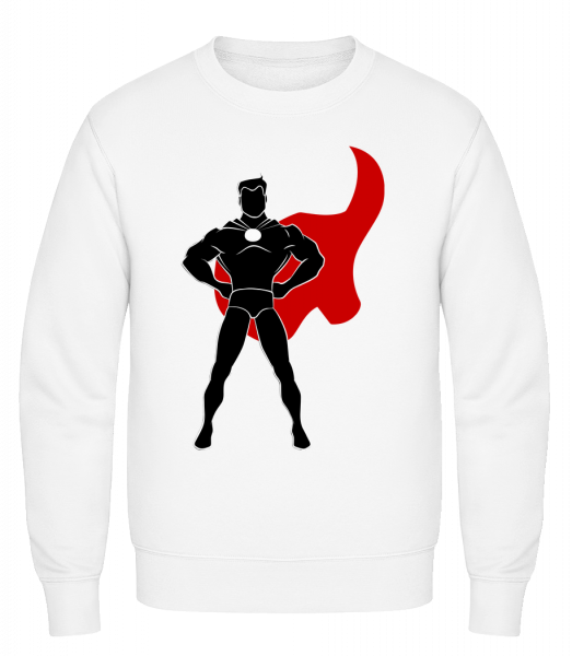 Superhero Standing - Classic Set-In Sweatshirt - White - Vorn
