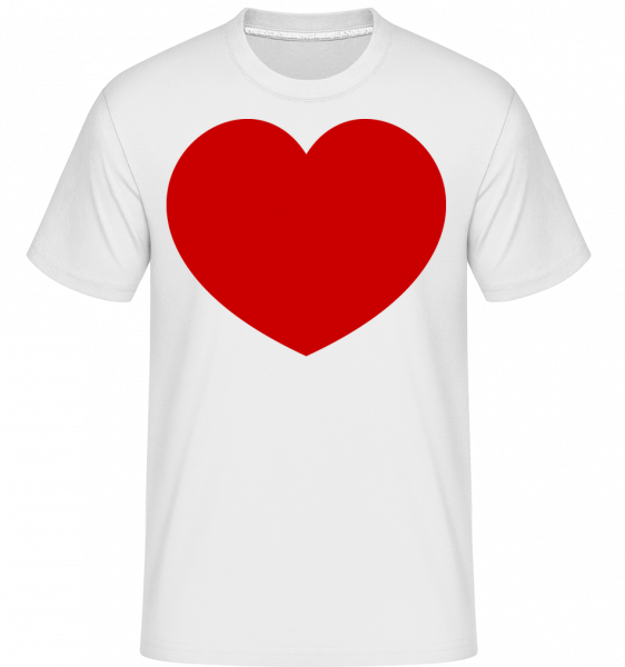 Heart - Shirtinator Men's T-Shirt - White - Vorn