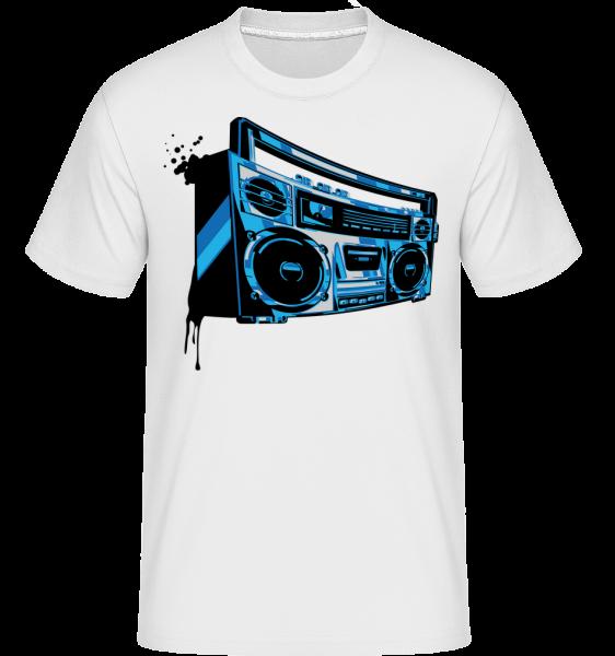 Boombox -  Shirtinator Men's T-Shirt - White - Vorn