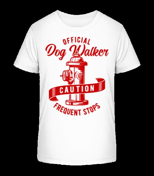 Official Dog Walker - Kid's Premium Bio T-Shirt - White - Vorn