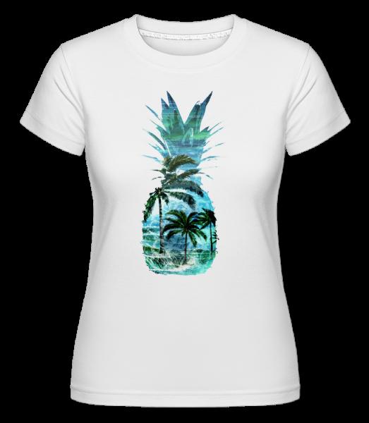Pineapple Palms - Shirtinator Women's T-Shirt - White - Vorn