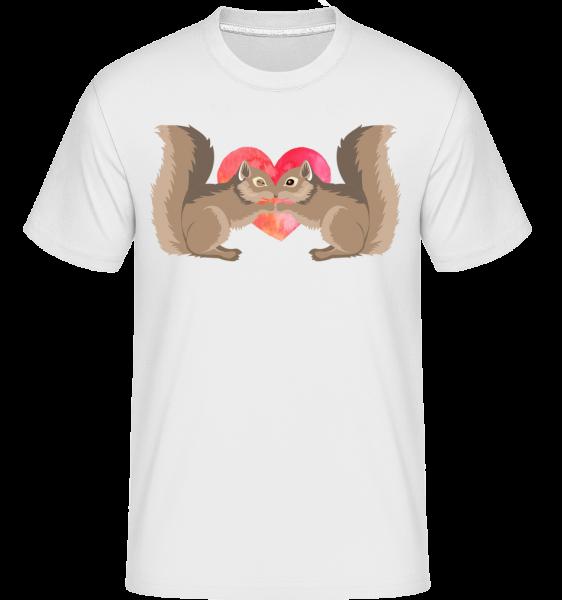 Squirrel Love -  Shirtinator Men's T-Shirt - White - Vorn