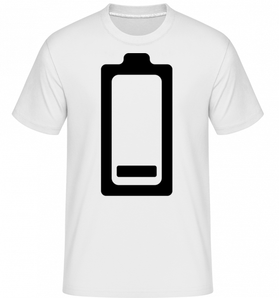 Battery Low Icon - Shirtinator Men's T-Shirt - White - Vorn