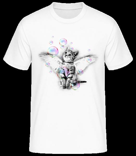 Soapbubble Cat - Men's Basic T-Shirt - White - Vorn