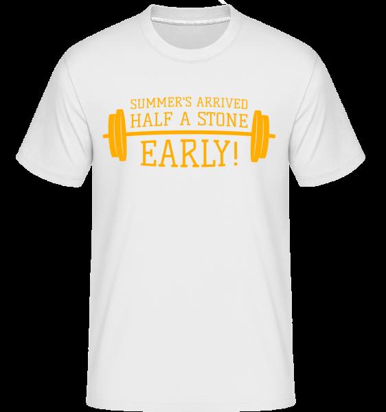 Summer's Arrived Half A Stone Ea -  Shirtinator Men's T-Shirt - White - Vorn