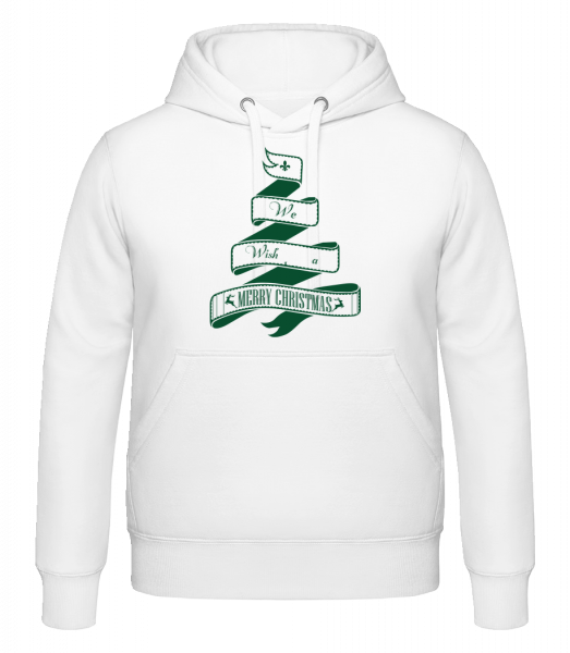 We Wish You A Merry Christmas - Hoodie - White - Vorn