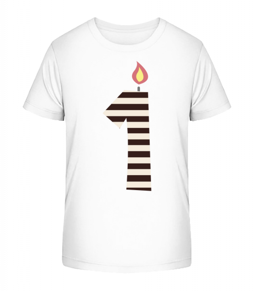 Birthday Candle - Kid's Premium Bio T-Shirt - White - Vorn