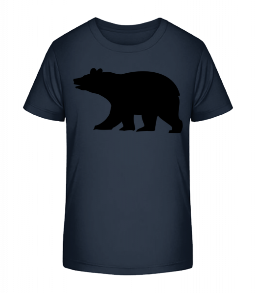 Bear Shadow - Kid's Premium Bio T-Shirt - Navy - Vorn