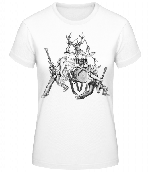 Wild Band - Women's Basic T-Shirt - White - Vorn