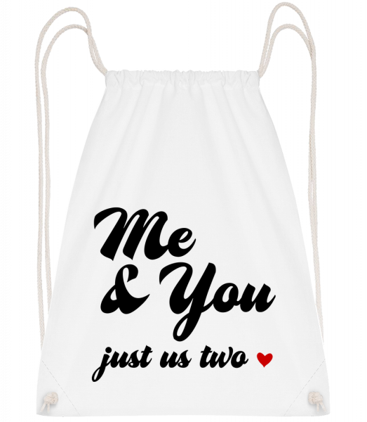 Me & You - Just Us Two - Drawstring Backpack - White - Vorn