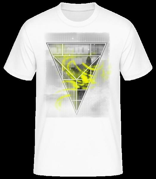 Skyline Triangle - Men's Basic T-Shirt - White - Vorn